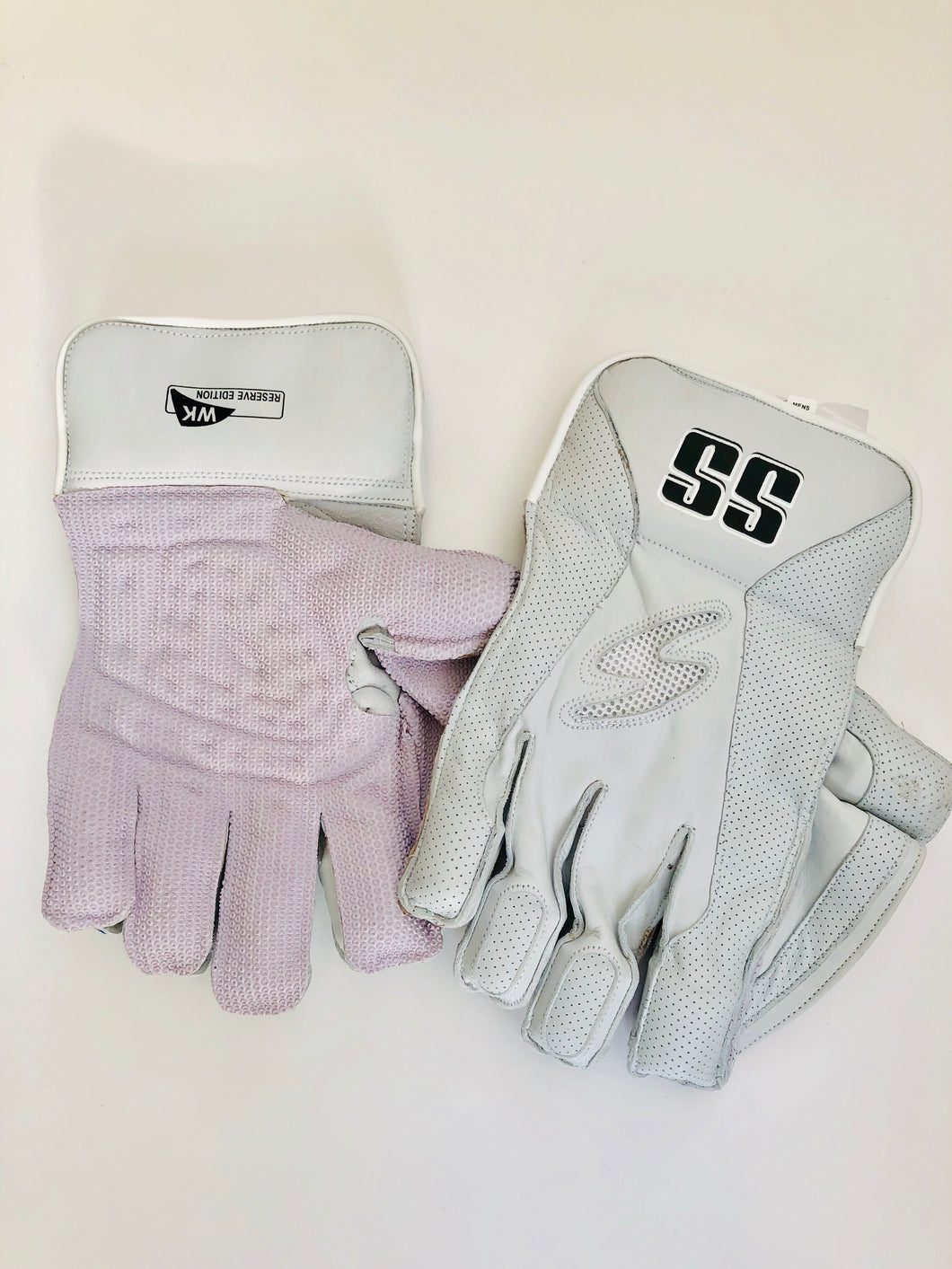 SS TON Reserve Edition Wicket Keeping Cricket Gloves | All White - DKP Cricket Online