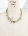 14k Gold and AAA Quality Green Prasiolite Necklace