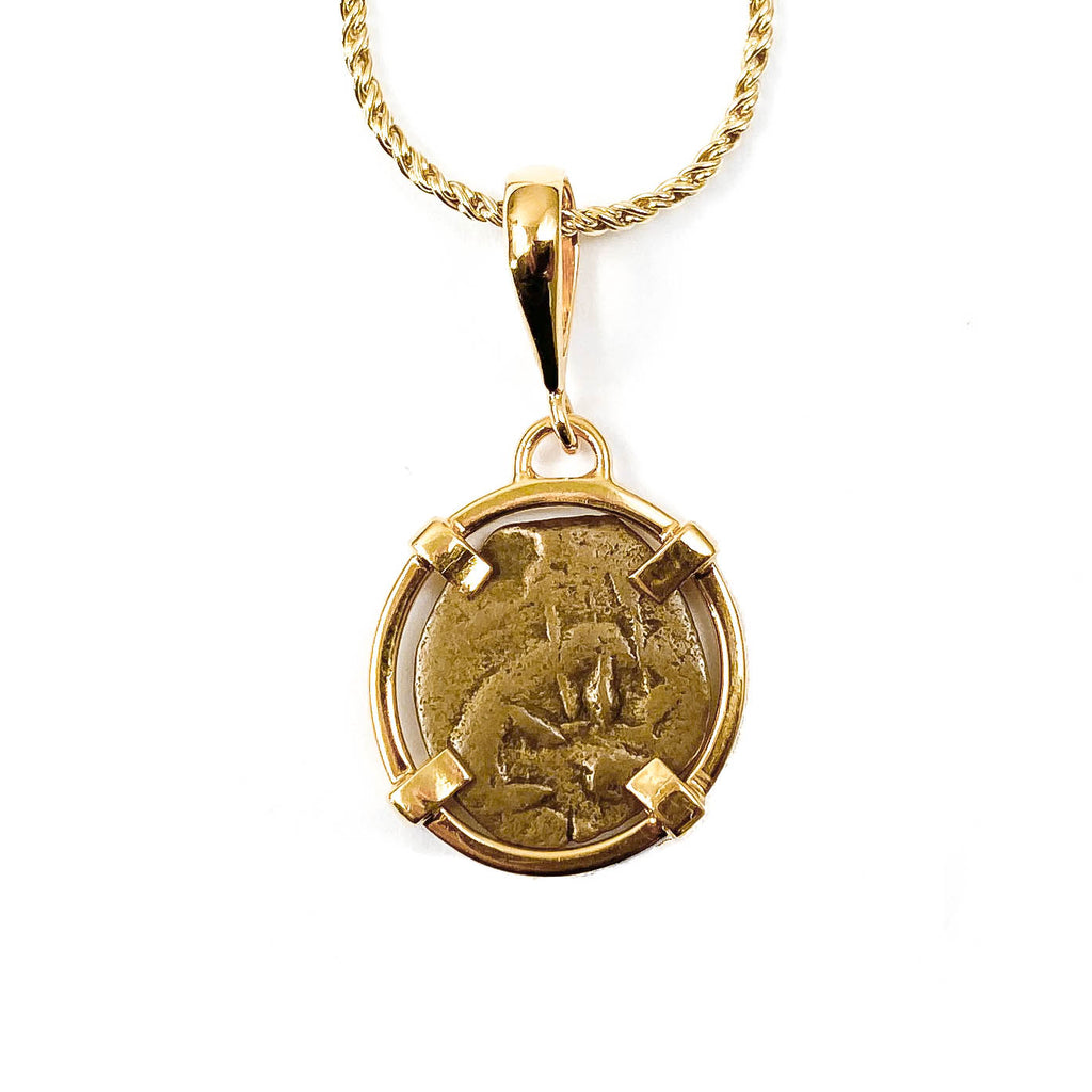 Genuine Ancient Widow's Mite Coin Necklace