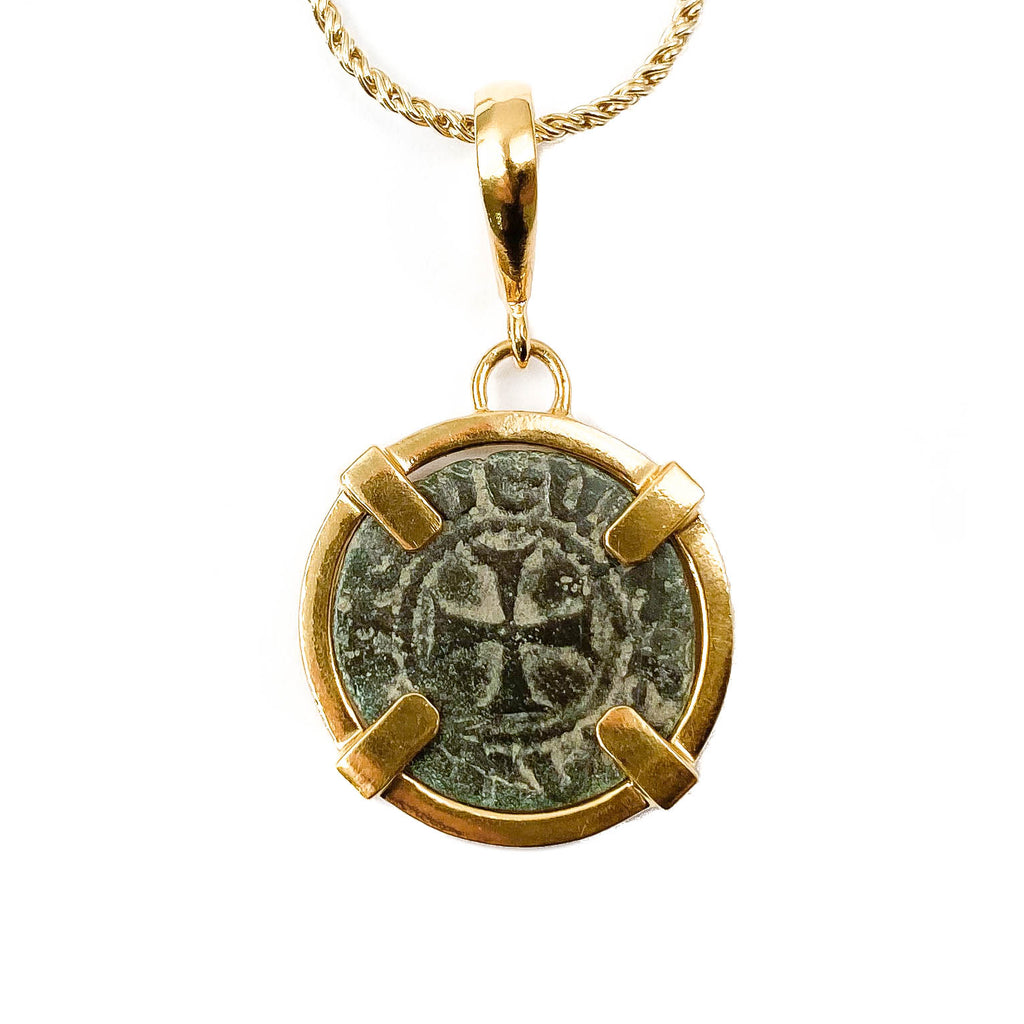 Genuine Ancient Coin of the Crusades Pendant Necklace (1296-1298 A.D.)