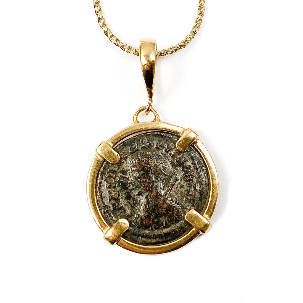 Genuine Ancient Roman Coin Necklace (Licinius; 308-324 A.D.)