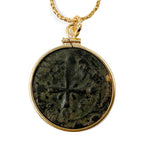 Genuine Ancient Byzantine Coin Necklace (Christ/Cross issue; Anonymous Follis; 1078-1081 A.D.)