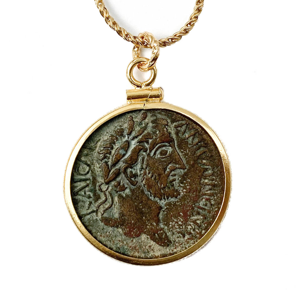 Genuine Ancient Roman Coin Necklace (Antonius Pius; 138-161 A.D.)