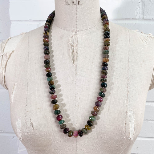 Hand-Knotted Tourmaline Strand Necklace