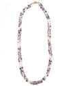 Amethyst & Pearl Double Strand Necklace