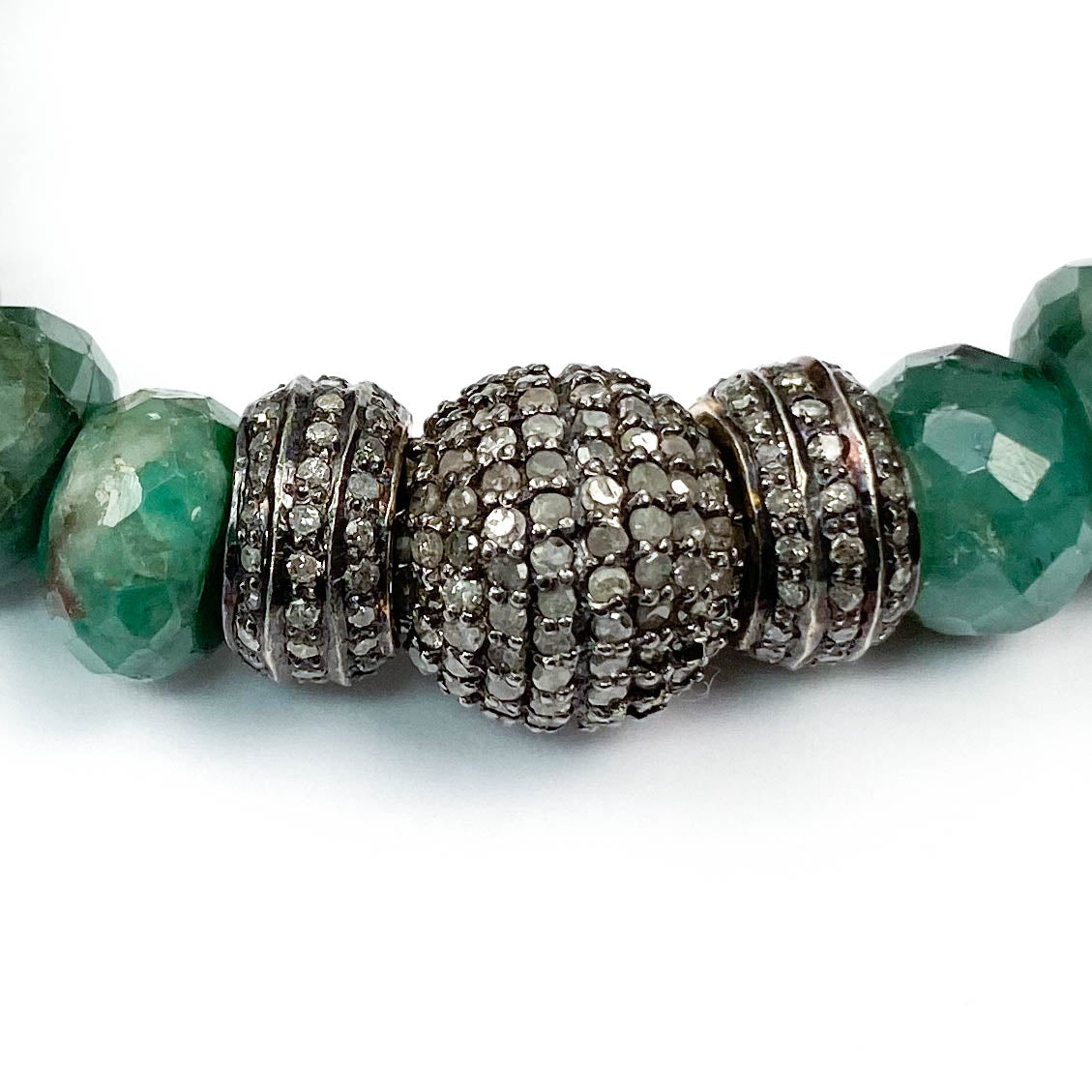 Diamond and Brazilian Emerald Bracelet