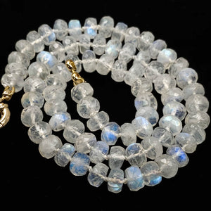 Rainbow Moonstone Knotted Necklace