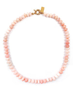 Pink Peruvian Opal Hand-Knotted Necklace