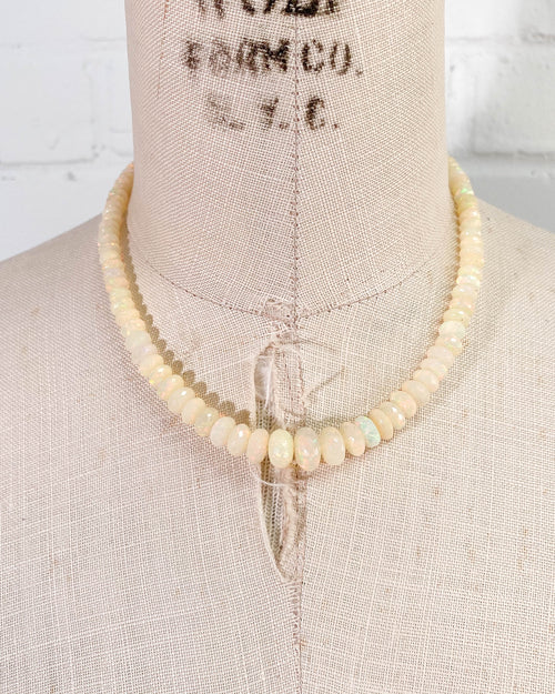 Ethiopian Opal Graduated 14kt Gold Statement Necklace