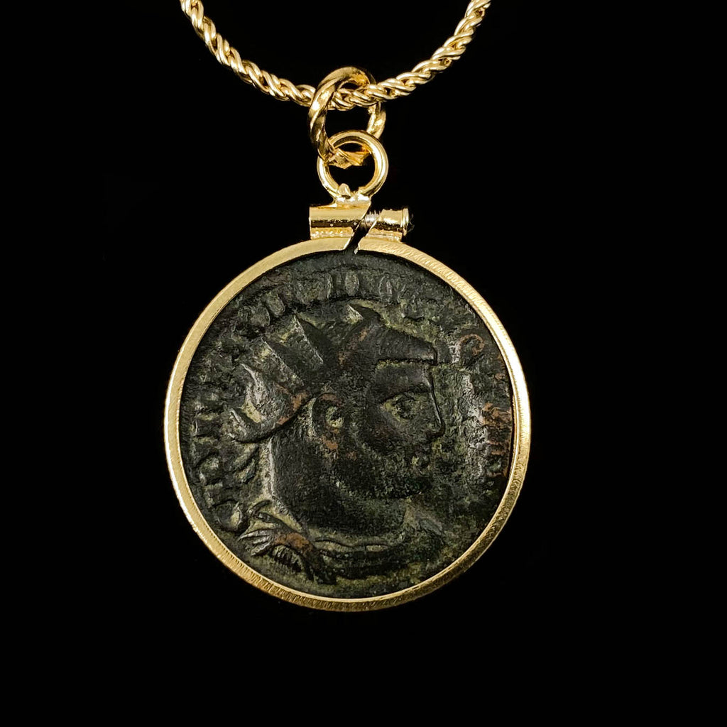 Genuine Ancient Roman Coin Necklace (Galerius; 305-311 A.D.)