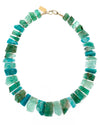 14k Gold Emerald, Aquamarine, & Amazonite Necklace