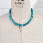 Hand-Knotted Arizona Kingman Turquoise Necklace