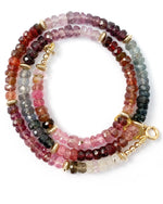 Faceted Multi-Color Spinel Strand Necklace