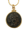14k Gold Filled Genuine Ancient Greek Dionysus Coin Necklace (Mithradates VI; 85-65 BC)