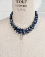 Natural Tumbled Blue Sapphire Necklace