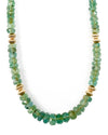 Graduated Natural Zambian Emerald Necklace