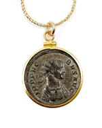 14k Gold Filled Genuine Ancient Roman Coin Necklace (Probus; 279 A.D.)
