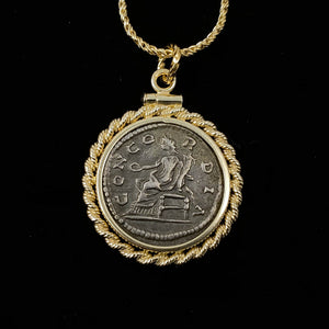 14k Gold Filled Ancient Roman Coin Necklace (Empress Julia Domna; 196-202 A.D.)