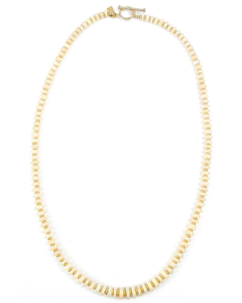 Faceted Ethiopian Opal 14k Gold Filled Necklace