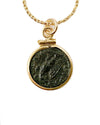 14k Gold Filled Genuine Ancient Roman Coin Necklace (Caracalla; 198-217 A.D.)