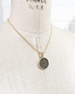 14k Gold Filled Genuine Ancient Roman Coin Necklace (Probus; 276-282 A.D.)