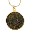 14k Gold Filled Genuine Ancient Greek Coin Necklace (Zeus; 2nd-3rd Century A.D.)