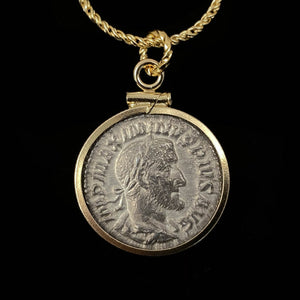 14k Gold Filled Ancient Roman Coin Necklace (Maximinus II; 308-313 A.D.)