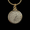 14k Gold Filled Genuine Ancient Roman Coin Necklace (Maximinus II; 308-313 A.D.)