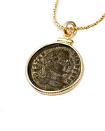 14k Gold Filled Genuine Ancient Roman Coin Necklace (Constantine the Great; 324-325 A.D.)