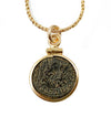14k Gold Filled Genuine Ancient Roman Coin Necklace (Constantius II; 347-348 A.D.)