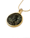 14k Gold Filled Genuine Ancient Roman Coin Necklace (Empress Julia Domna; 193-217 A.D.)