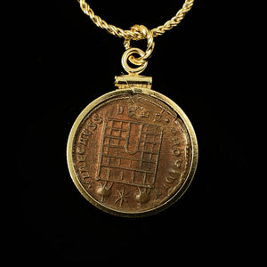 14k Gold Filled Authentic Ancient Roman Coin Necklace (Constantine the Great; 306-337 A.D.)