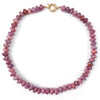 Ruby Hand-Knotted Stand Necklace
