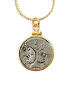 14k Gold Filled Ancient Roman Janus Coin Necklace (Philus; 119 BC)