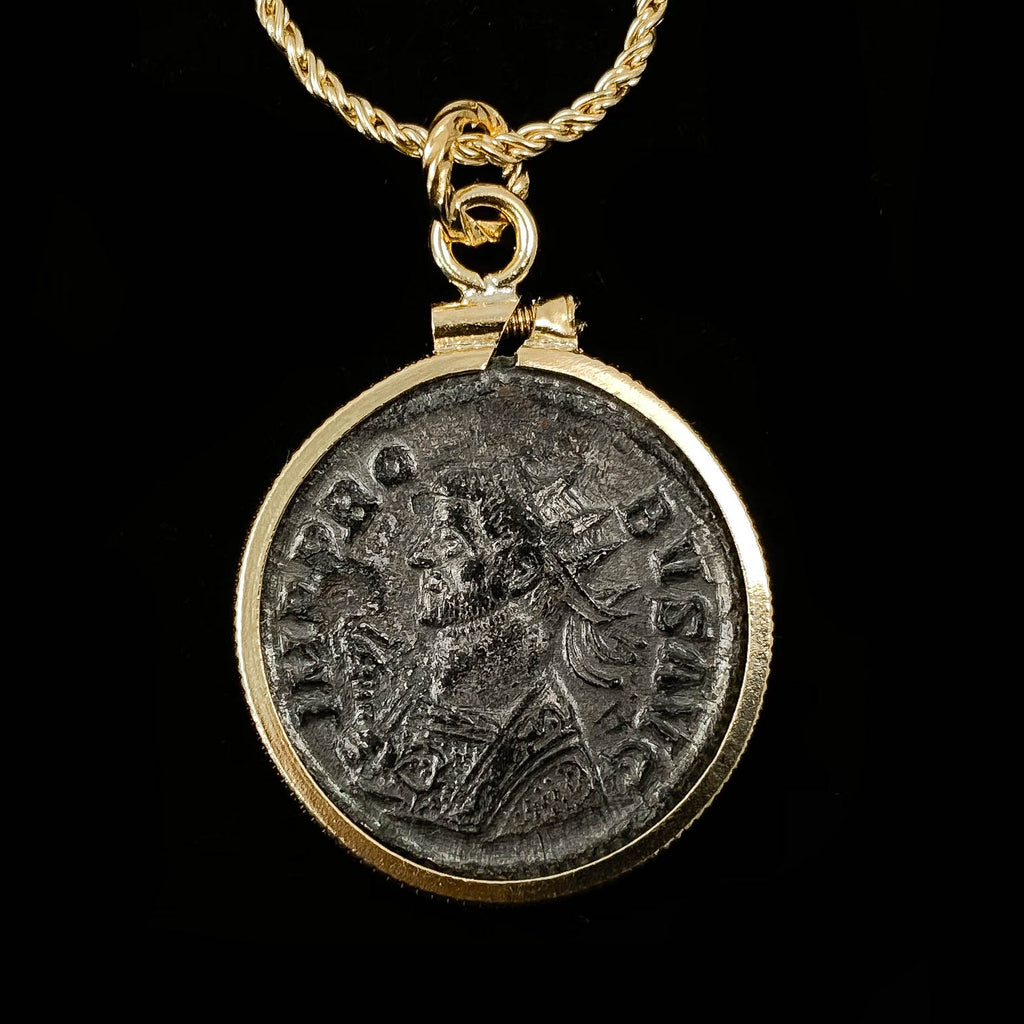 14k Gold Filled Authentic Roman Coin Necklace (Probus; 280 A.D.)