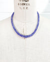 Graduated Faceted Purple Tanzanite Necklace