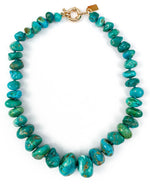 Undyed Blue-Green Arizona Sleeping Beauty Turquoise Nugget Necklace