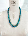 Blue Peruvian Opal Statement Necklace