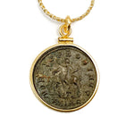 14k Gold Filled Ancient Roman Coin Necklace (Probus; 276-282 A.D.)