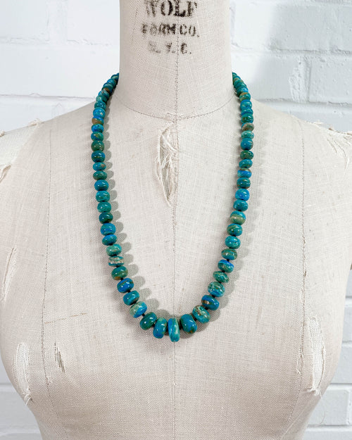 Blue-Green Peruvian Opal Statement Necklace