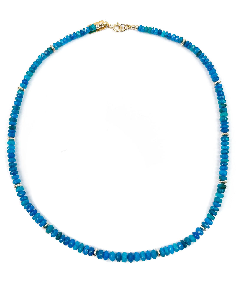 Electric Blue Ethiopian Opal Strand Necklace