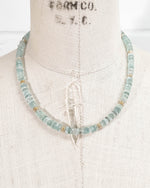 Faceted Aquamarine Strand Statement Necklace