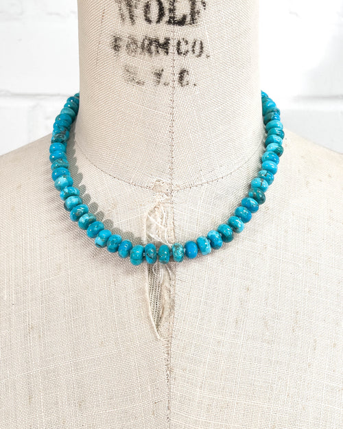 Arizona Kingman Turquoise Knotted Strand Necklace