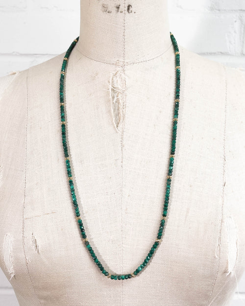Green Malachite Strand Necklace