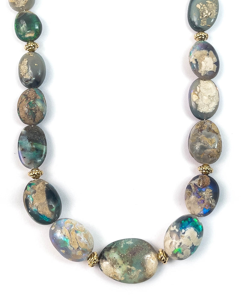 Natural Australian Opal Nugget Necklace