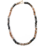 Grey Moonstone & Sunstone Necklace