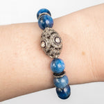 Polki Diamond Focal with Blue Kyantie Bracelet
