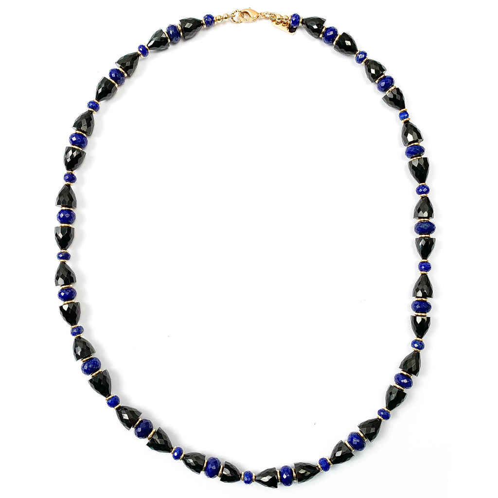 Black Spinel & Royal Blue Lapis Lazuli Necklace