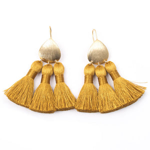 GOLD BOHEMIAN TASSEL EARRINGS