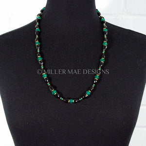 SPINEL & GREEN CHALCEDONY NECKLACE